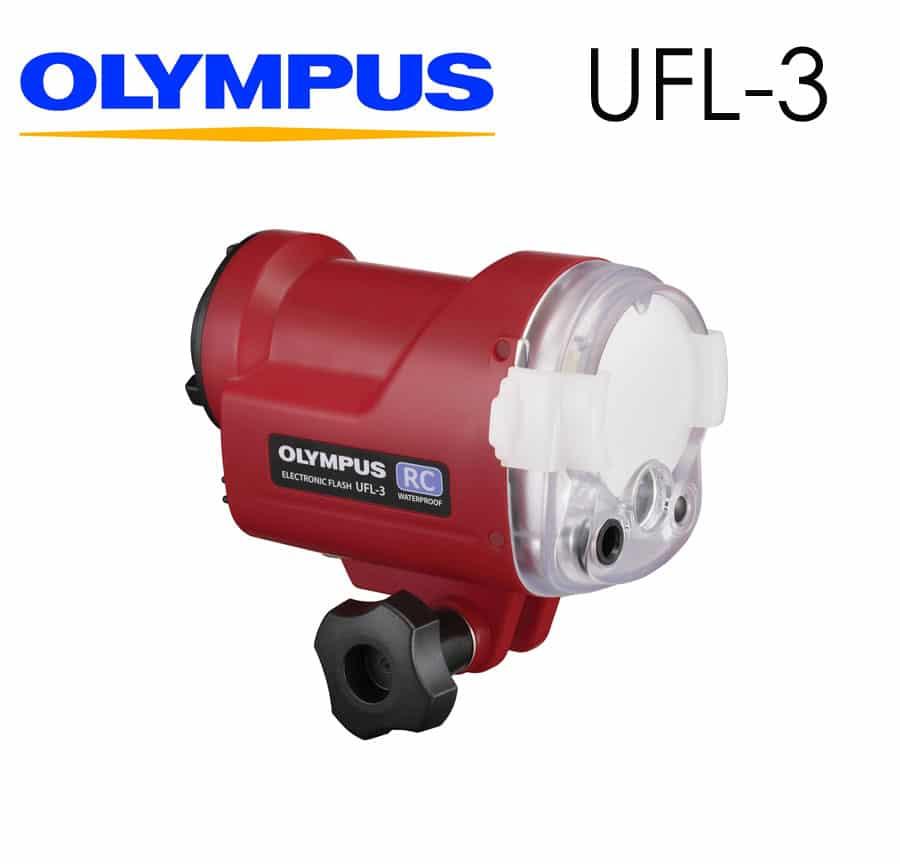 Flash Olympus UFL-3 especialmente diseñado para cámaras Olympus