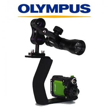 Cabecera Pack Olympus TG-TRACKER con iluminación