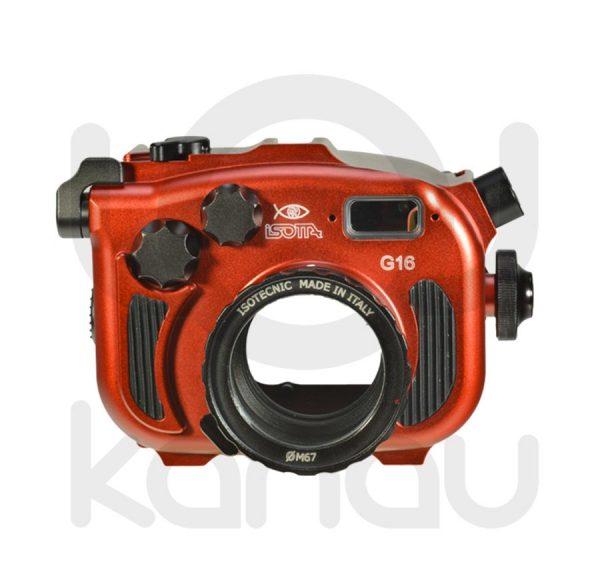 La Carcasa Isotta para la cámara compacta Canon G16 , está fabricada en aluminio marino anticorrosión. Con acceso a todos los diales principales de la cámara.