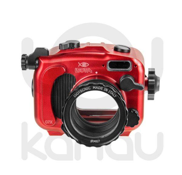 La Carcasa Isotta para la cámara compacta, Canon G7X , está fabricada en aluminio marino anticorrosión. Con acceso a todos los diales principales de la cámara.