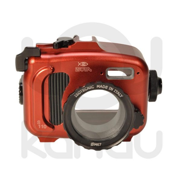 La Carcasa Isotta para la cámara compacta Canon S110 , está fabricada en aluminio marino anticorrosión. Con acceso a todos los diales principales de la cámara.