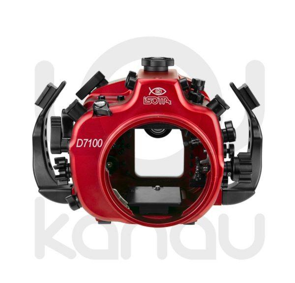 La Carcasa Isotta para la cámara reflex Nikon D7100, está fabricada en aluminio marino anticorrosión. Con acceso a todos los diales principales de la cámara.