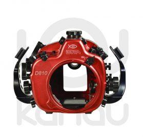 La Carcasa Isotta para la cámara reflex Nikon D810, está fabricada en aluminio marino anticorrosión. Con acceso a todos los diales principales de la cámara.