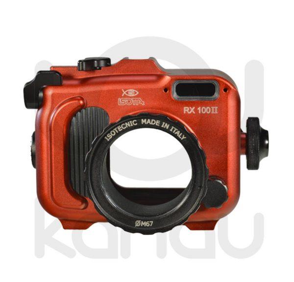 La Carcasa Isotta para la cámara compacta Sony RX100 Mark II , está fabricada en aluminio marino anticorrosión. Con acceso a todos los diales principales de la cámara.