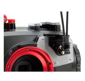 INON conector doble fibra óptica tipo L  carcasa Olympus