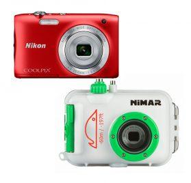 Conjunto Cámara Nikon Coolpix S2900 y carcasa submarina Nimar