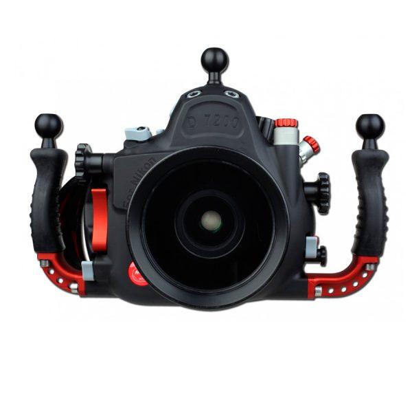 carcasa-submarina-Hugyfot-para-Nikon-D7200-frontal