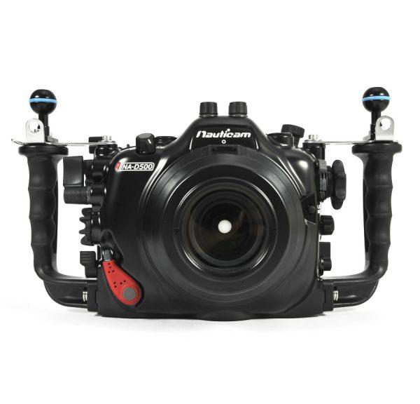 Carcasa submarina Nauticam para Nikon D500_frontal