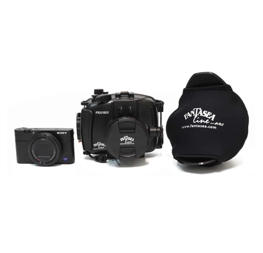 Pack-camara-Sony-RX100MKV,carcasa-Fantasea-FRX-100-V-y-angular UWL-09F