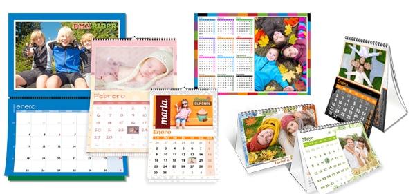 Revelado de foto calendarios