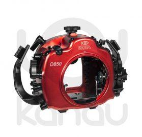 La Carcasa Isotta para la cámara reflex Nikon D850, está fabricada en aluminio marino anticorrosión. Con acceso a todos los diales de la cámara.