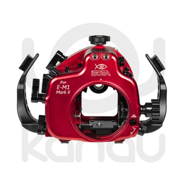 La Carcasa Isotta para la cámara sin espejo Olympus E-M1 Mark II, está fabricada en aluminio marino anticorrosión. Con acceso a todos los diales de la cámara.
