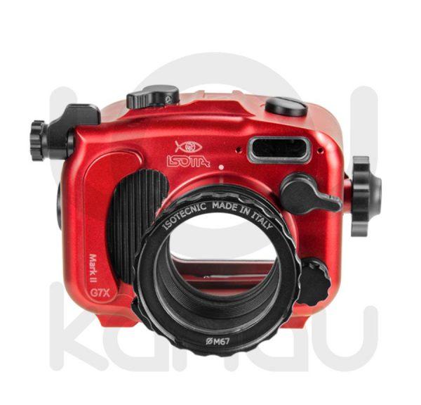 La Carcasa Isotta para la cámara compacta Canon G7X Mark II,, está fabricada en aluminio marino anticorrosión. Con acceso a todos los diales de la cámara.