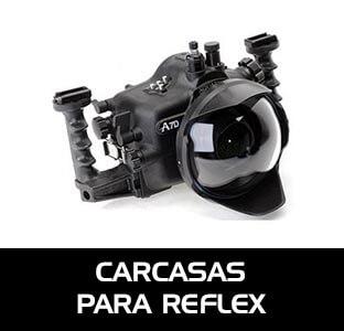 Carcasas submarinas para cámaras reflex. Cajas estancas para reflex. Estuches estancos fotosub cámaras DSLR.