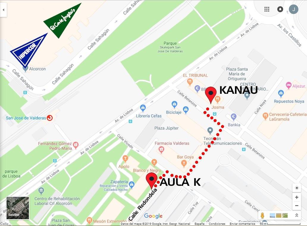 mapa aula k - kanau