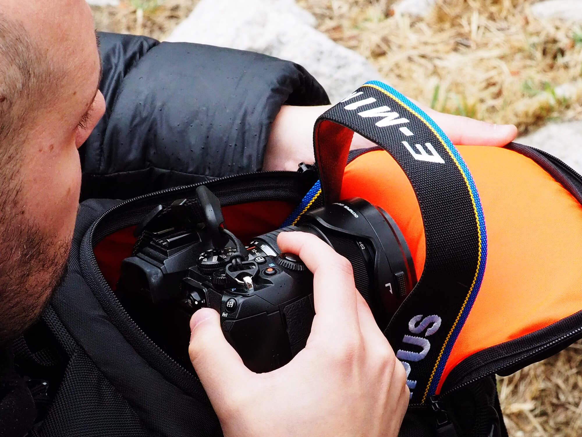 Acceso mochila fotografica