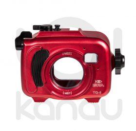 La Carcasa Isotta para la cámara compacta Olympus TG-6, está fabricada en aluminio marino anticorrosión. Con acceso a todos los diales principales de la cámara.