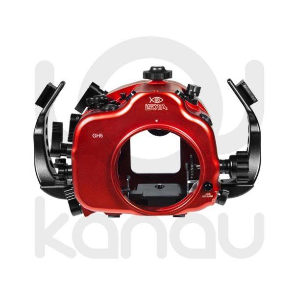 La Carcasa Isotta para la cámara sin espejo Panasonic GH5 y GH5S está fabricada en aluminio marino anticorrosión. Con acceso a todos los diales de la cámara.