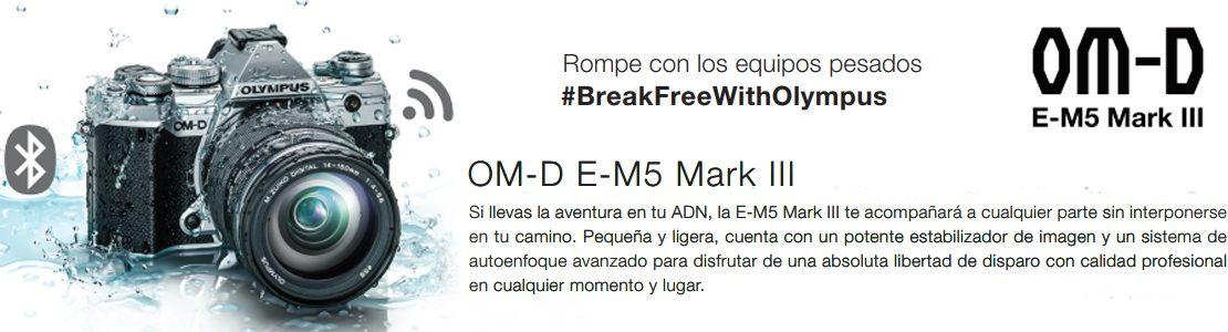 Llévate tu Olympus E-M5 Mark III y finánciala en 10 meses sin intereses.