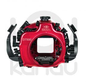 La Carcasa Isotta para la cámara reflex Nikon D7500, está fabricada en aluminio marino anticorrosión. Con acceso a todos los diales de la cámara.