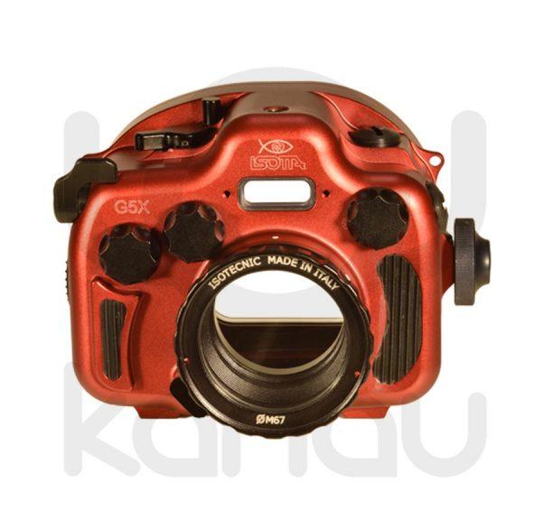 La Carcasa Isotta para la cámara compacta Canon G5X, está fabricada en aluminio marino anticorrosión. Con acceso a todos los diales principales de la cámara.