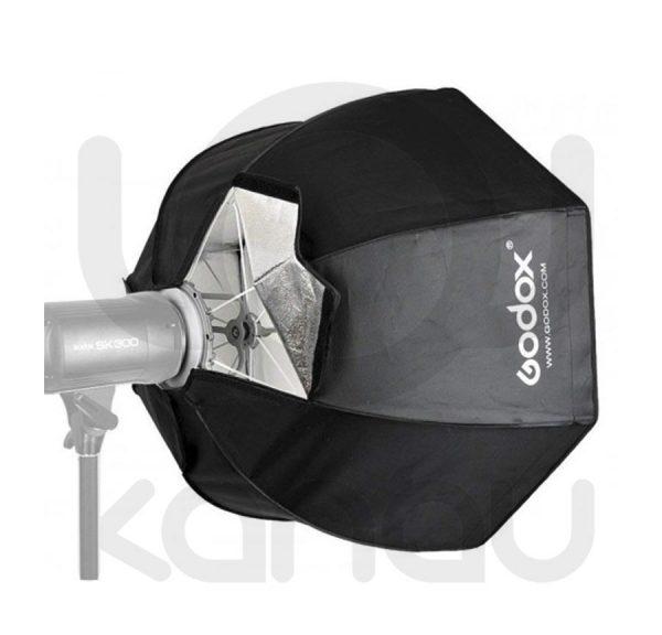 Ventana Godox Octagonal de 80 cm de diámetro, con montura Bowens ideal para iluminacion de estudio contando además con grid desmontable por velcro,