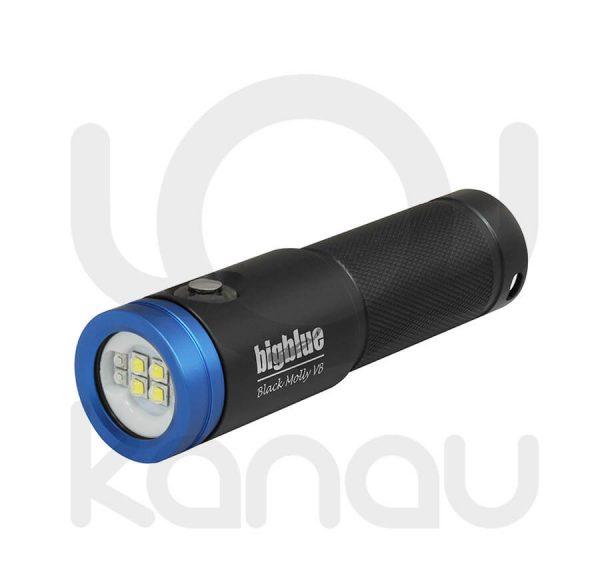 Foco para foto y video submarino de 2600 lumen con luz azul para fluorescencias