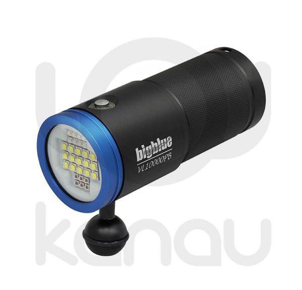 Foco para foto y video submarino de 10000 lumen con luz azul para fluorescencias