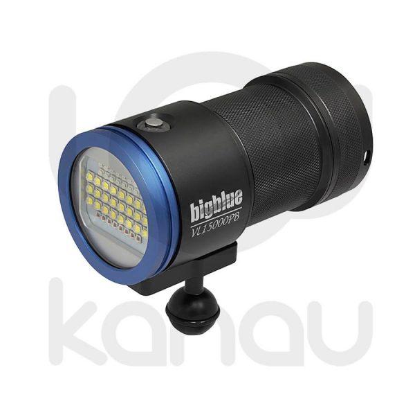 Foco para foto y video submarino de 15000 lumen con luz azul para fluorescencias incorporada