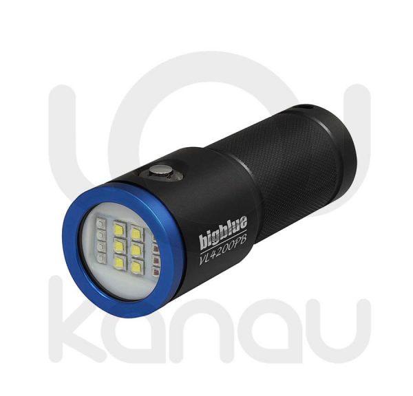 Foco para foto y video submarino de 4200 lumen con luz azul para fluorescencias