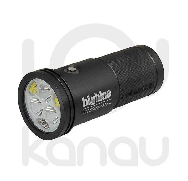 Foco para foto y video submarino de 8000 lumen con doble haz de luz regulables