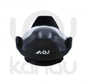 """AOI DLP-05 Frontal cúpula de 4"""" con cuerpo fabricado en Aluminio anodizado y cúpula de cristal óptico para carcasas Olympus PEN y carcasas Olympus OM-D con embocadura PEN."""