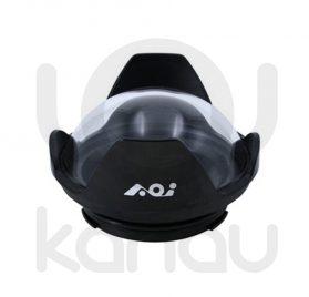"""AOI DLP-06. Frontal de compuesto de cuerpo de resistente aluminio anodizado y cúpula de 4"""" de acrílico óptico para carcasas Olympus PEN y carcasas Olympus OM-D con embocadura PEN."""