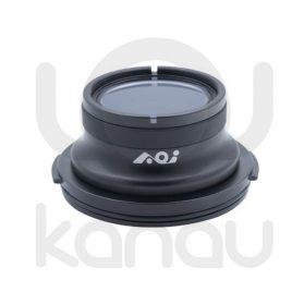 Frontal plano AOI con cuerpo fabricado en resistente aluminio anodizado y acrílico de grado óptico para carcasas OM-D PT-EP08, PT-EP11 y PT-EP14