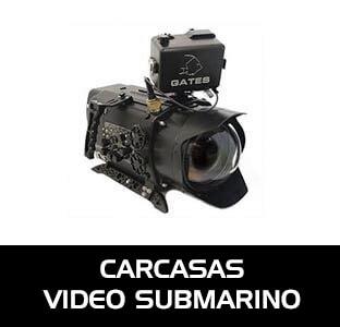 Carcasas submarinas para cámaras de video y cine. Cajas estancas para filmación submarina. Carcasas estancas para cámaras de video