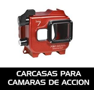 Carcasas submarinas y accesorios para cámaras de acción como la GoPro