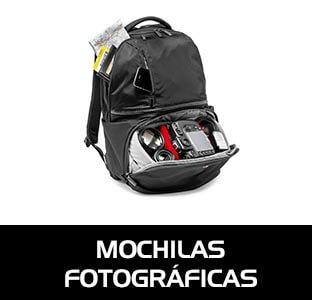 Mochilas fotográficas especialmente diseñadas para el transporte cómodo y seguro de nuestros equipos de fotografía. vídeo y accesorios.