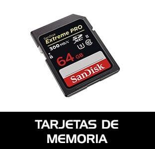 Tarjetas de memoria para equipos de fotografía y vídeo. Tarjetas Sd, Micro SD, CF