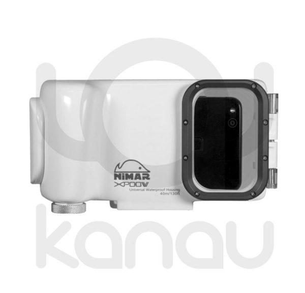 Carcasa universal Nimar para smartphone fabricada en policarbonato, vista frontal