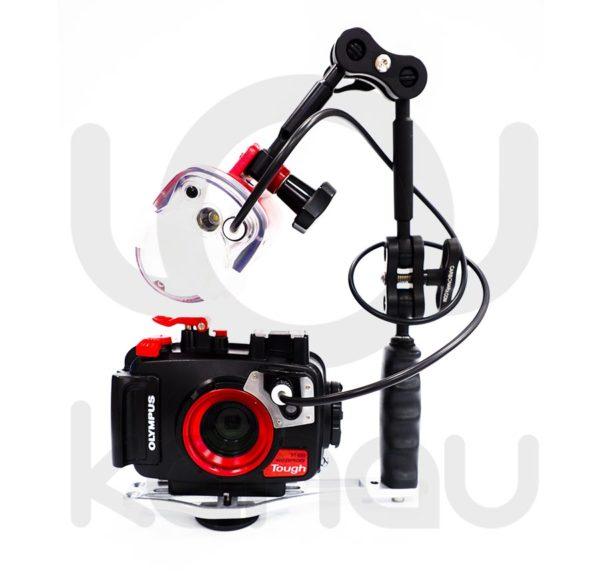 Pack fotografia sumbarina compuesto por Olympus TG-6 + PT-059 + Flash UFL-3 + pletina simple