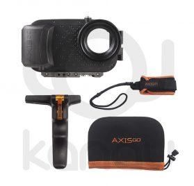 Carcasa AxisGo para iPhone con grip inferior para agarre